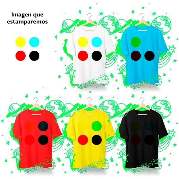 efectos de la sublimación según el color de las camisetas